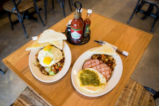 Breakfast plates at Black Sheep Café & Catering in Salem on Tuesday, Dec. 8, 2019. Breakfast is served all day at the café.