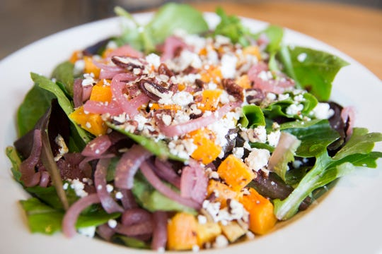 The Citrus butternut squash salad at Black Sheep Café & Catering in Salem on Tuesday, Dec. 8, 2019.