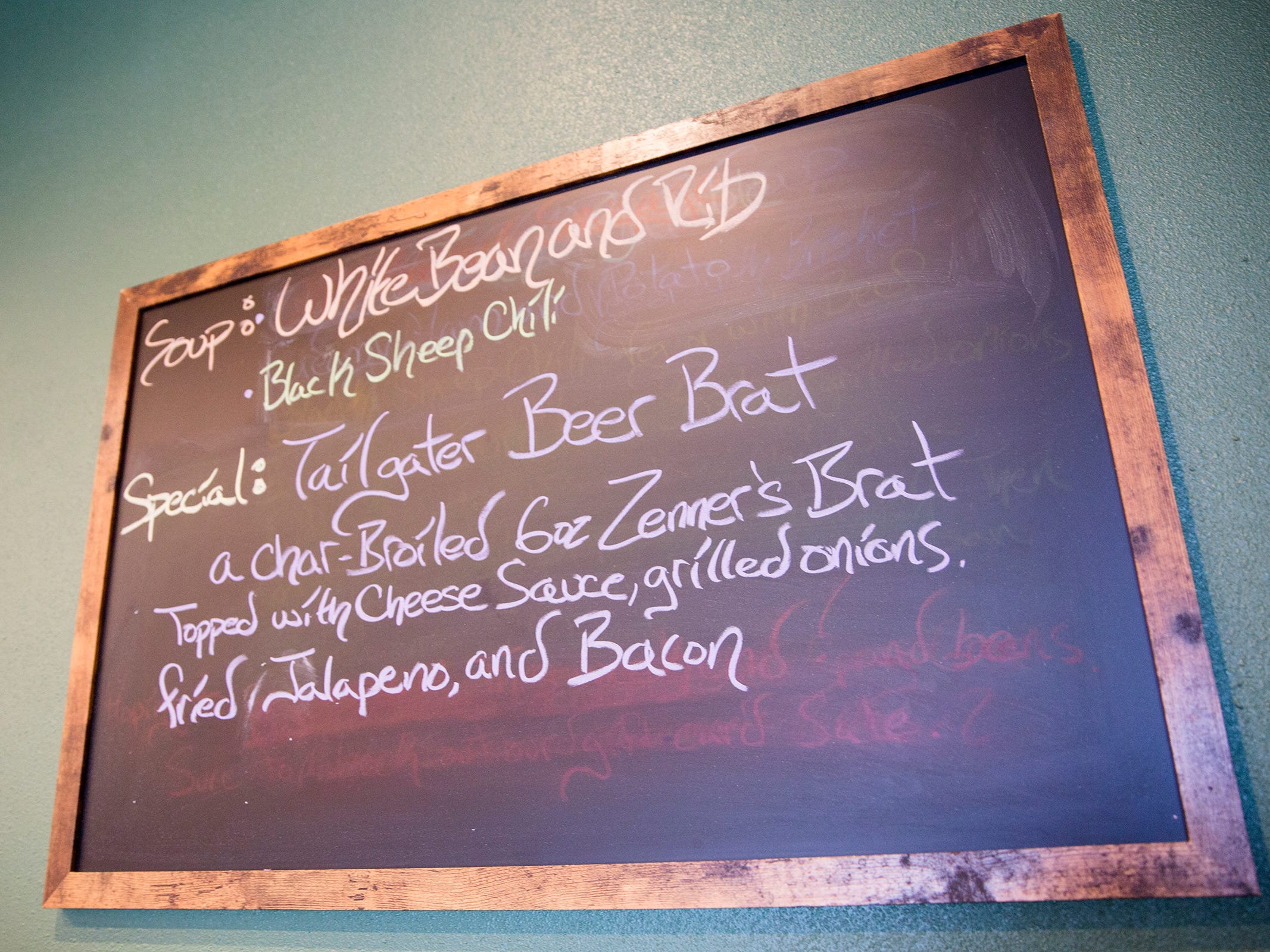 Soup and a special dish are listed on a chalk board at Black Sheep Café & Catering in Salem on Tuesday, Dec. 8, 2019.