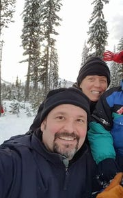 Katie Cianetta, 48 her husband, Matt Ciancetta, 50, and son visit the Santiam  Sno-Parkevery year forsledding.