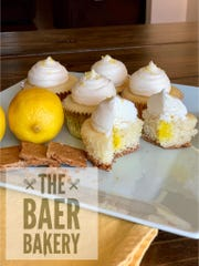 These lemon pie cupcakes by The Baer Bakery are one of the products for sale to help raise money for local elementary student Aiden Snyder and his family.