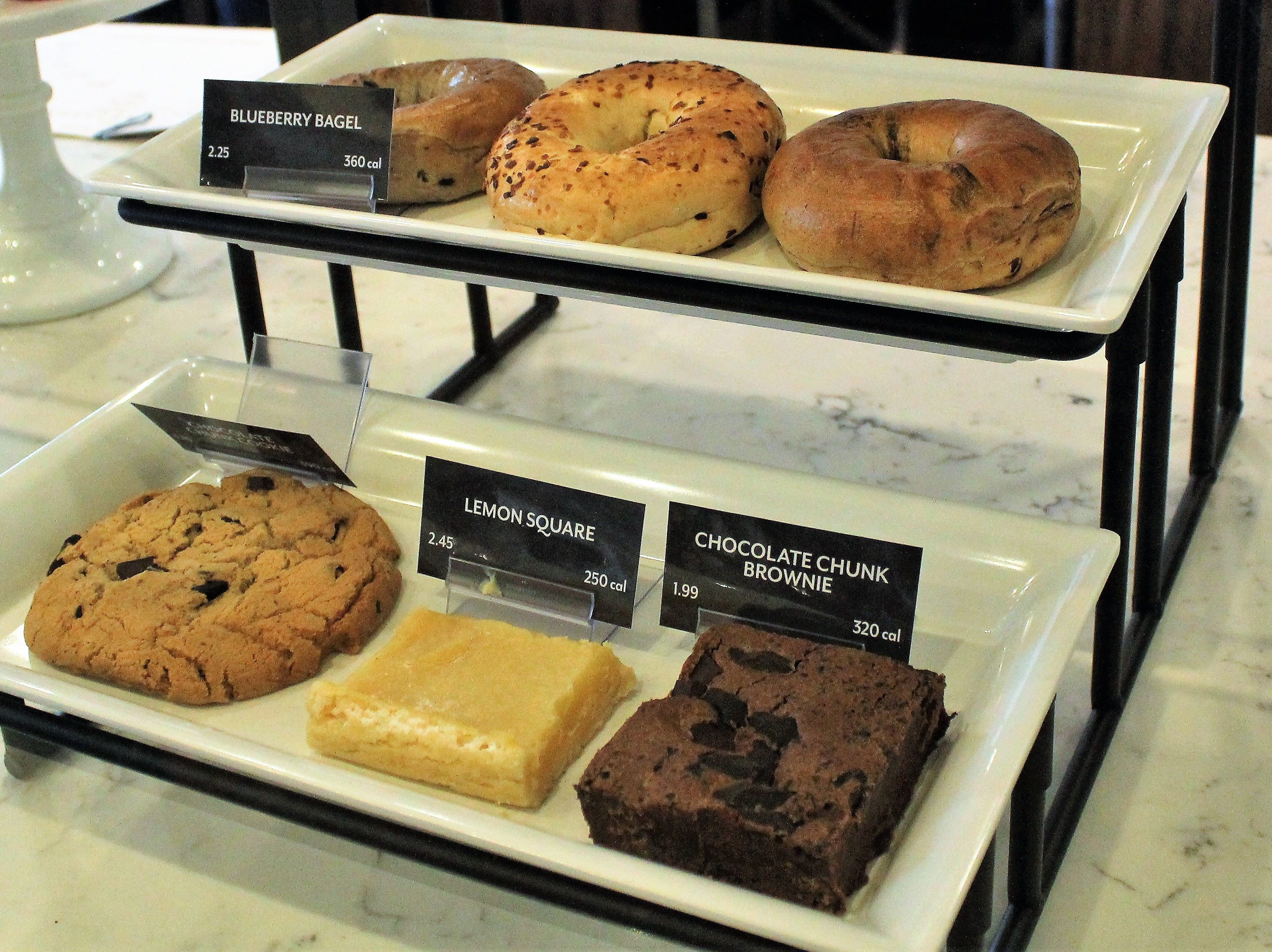 Bakery items on display at PJ's Coffee