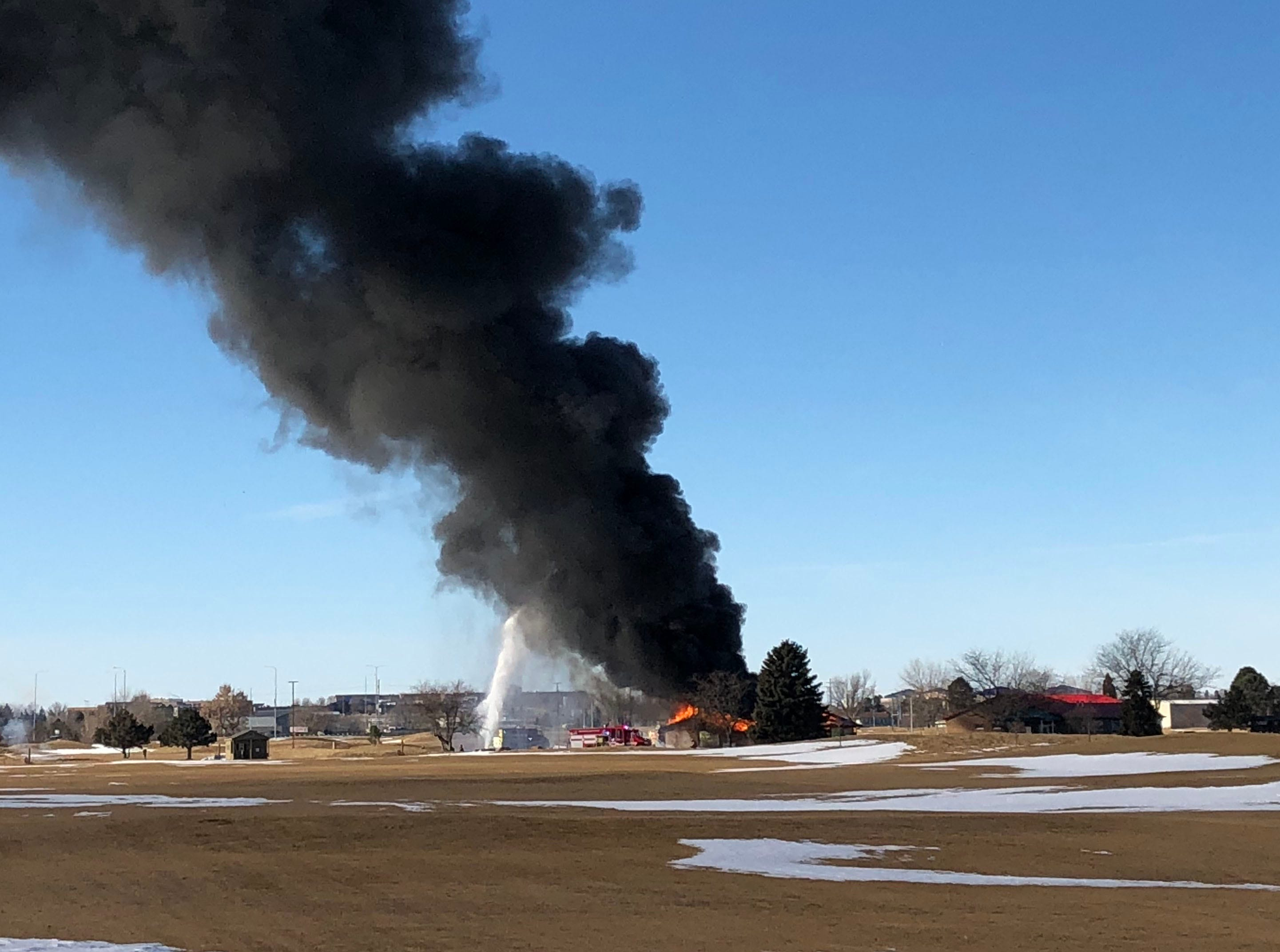 Fire at the golf cart shed at Elmwood Golf Course on Wednesday.