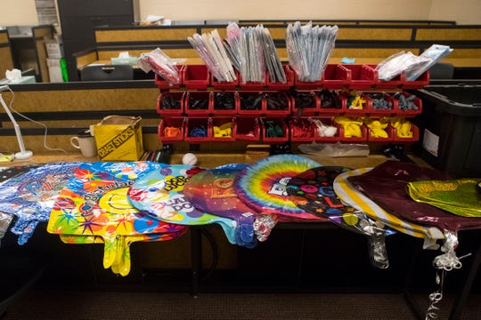 Tiger Balloons products are shown in Harrisburg High School classroom, Wednesday, Jan. 9, 2019.