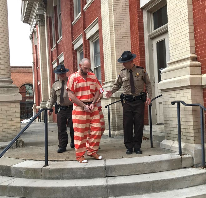 James W. Clark is led away from the Augusta County Courthouse on Wednesday, Jan. 9, 2019, after being sentenced to 25 years in prison on charges that included rape of a child.