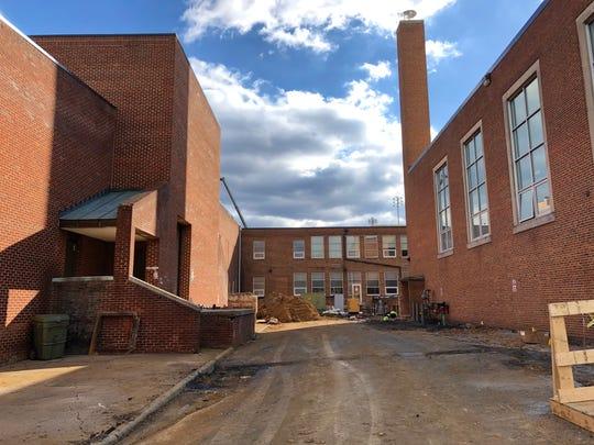 Waynesboro High School amid renovation on Jan. 9, 2019.