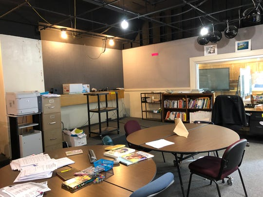 The former journalism classroom and current teachers' lounge amid construction at Waynesboro High School  on Jan. 9, 2019.
