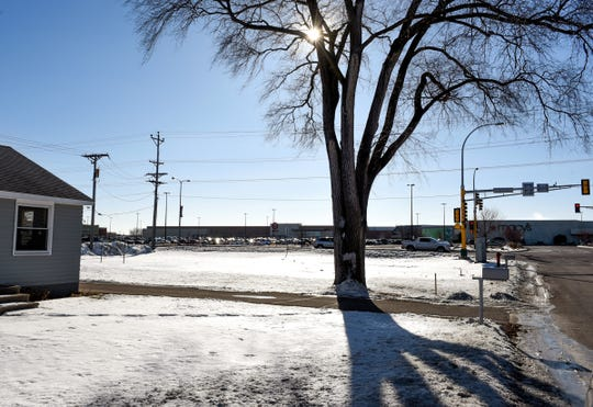 Proposed site of a retail and apartment complex at 205-3rd St. NE shown Wednesday, Jan. 9, behind Crossroads Center in St. Cloud.