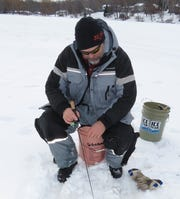 When mobility is needed, Steve Taylor is not afraid to utilize the 5-gallon bucket method of fishing.