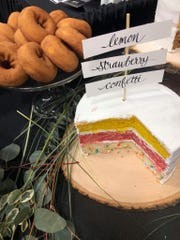 Coborn's displays a spread of wedding cake flavors and doughnuts at the Jan. 2018 St. Cloud Wedding Expo.
