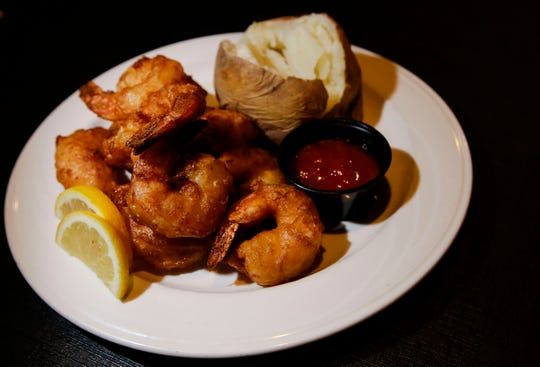A plate of hand-battered shrimp at the Buck-A-Neer Supper Club.