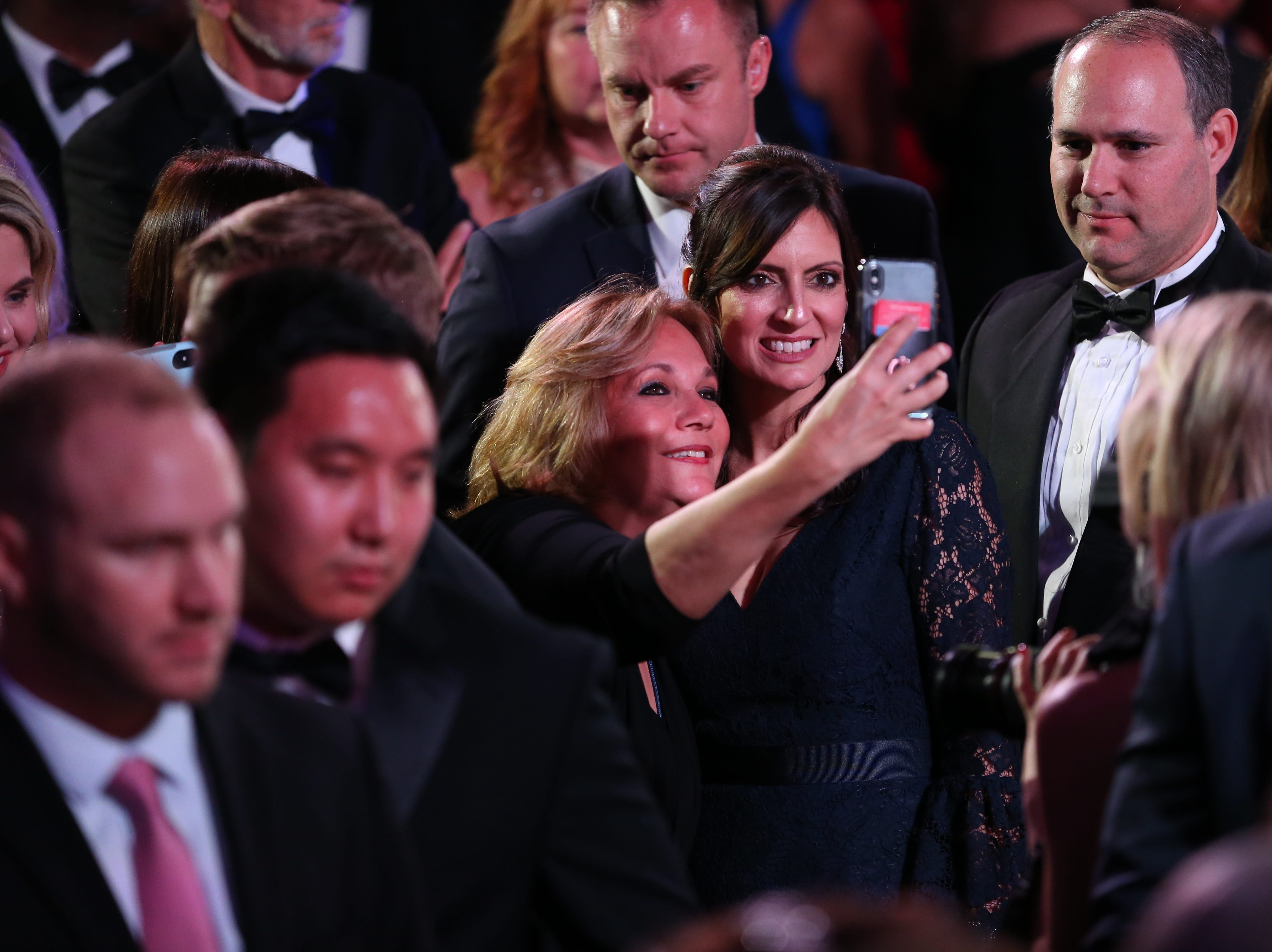 Hundreds of guests from all over Florida attend Florida's 46th Governor's Inaugural Ball at the Tucker Civic Center, Tuesday, Jan. 8, 2019. Lt. Gov. Jeanette Nunez poses for a selfie with a guest.