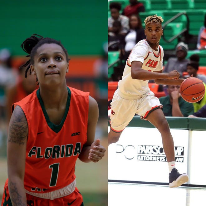 FAMU freshmen Mya Moye (left) and M.J. Randolph were named All-MEAC Rookie team. Randolph won Rookie of the Year.