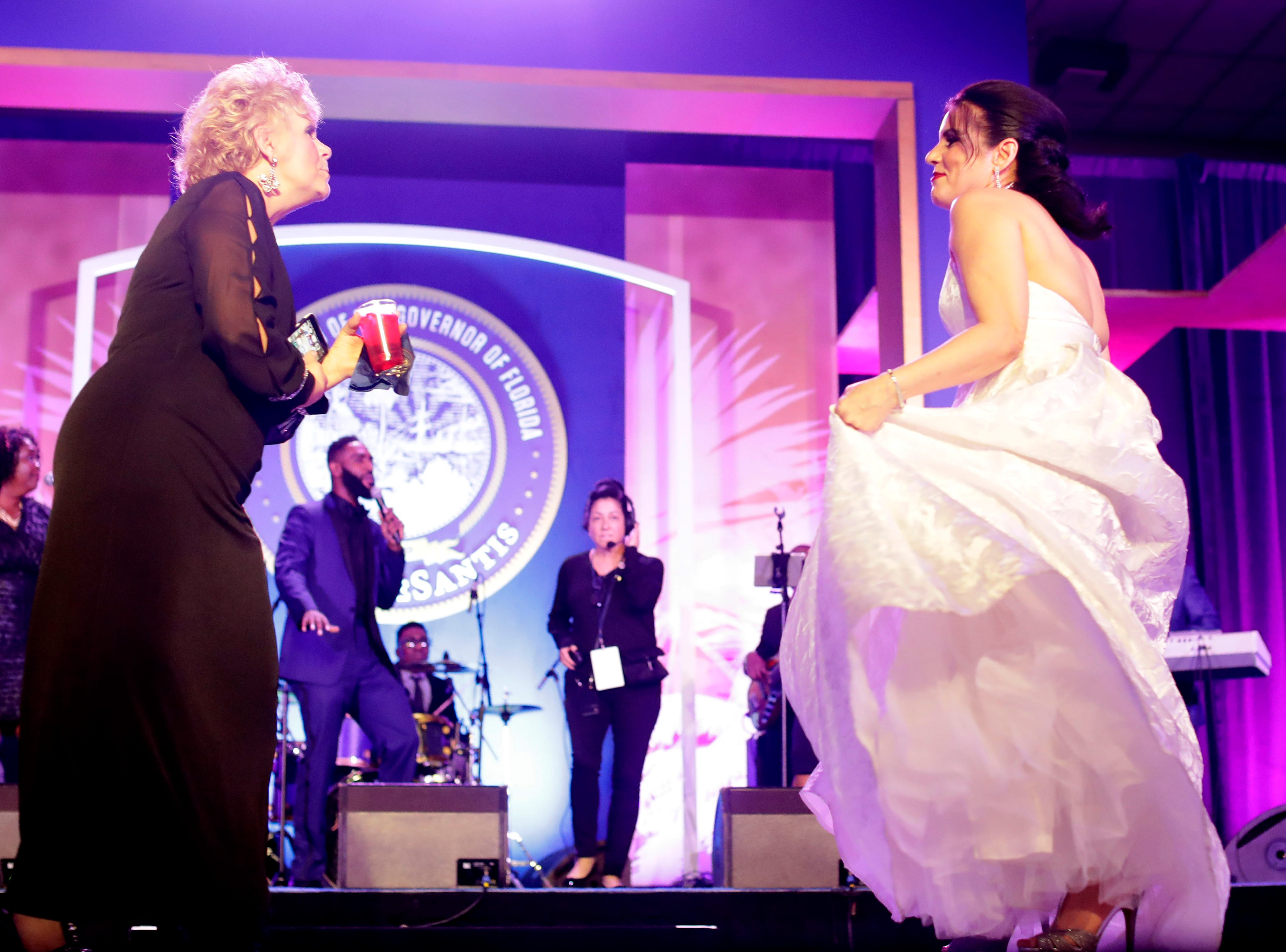 Hundreds of guests from all over Florida attend Florida's 46th Governor's Inaugural Ball at the Tucker Civic Center, Tuesday, Jan. 8, 2019.  Guests dance the night away on stage as live music is performed.