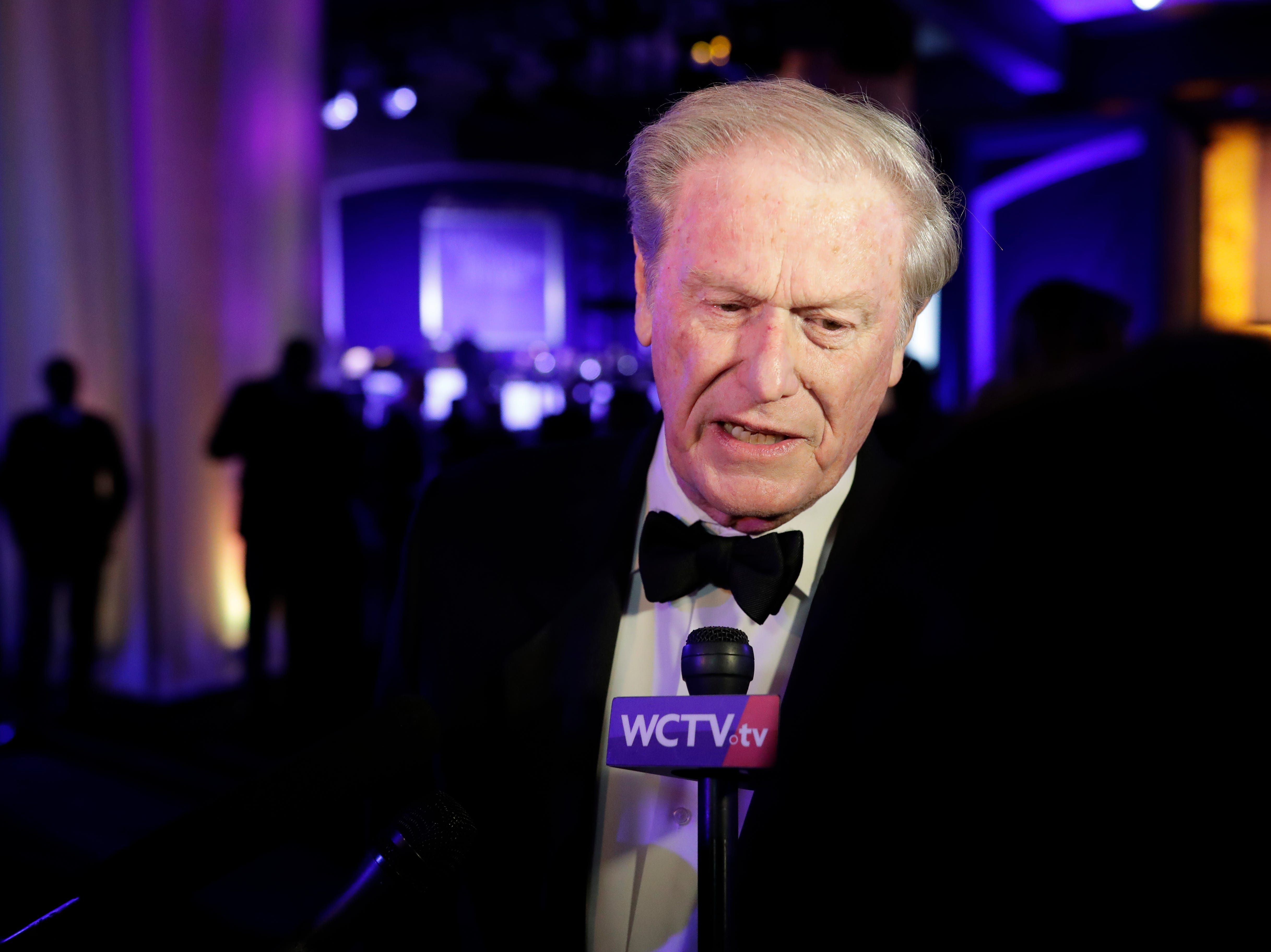 Hundreds of guests from all over Florida attend Florida's 46th Governor's Inaugural Ball at the Tucker Civic Center, Tuesday, Jan. 8, 2019. Florida State University President John Thrasher answers questions from the media.
