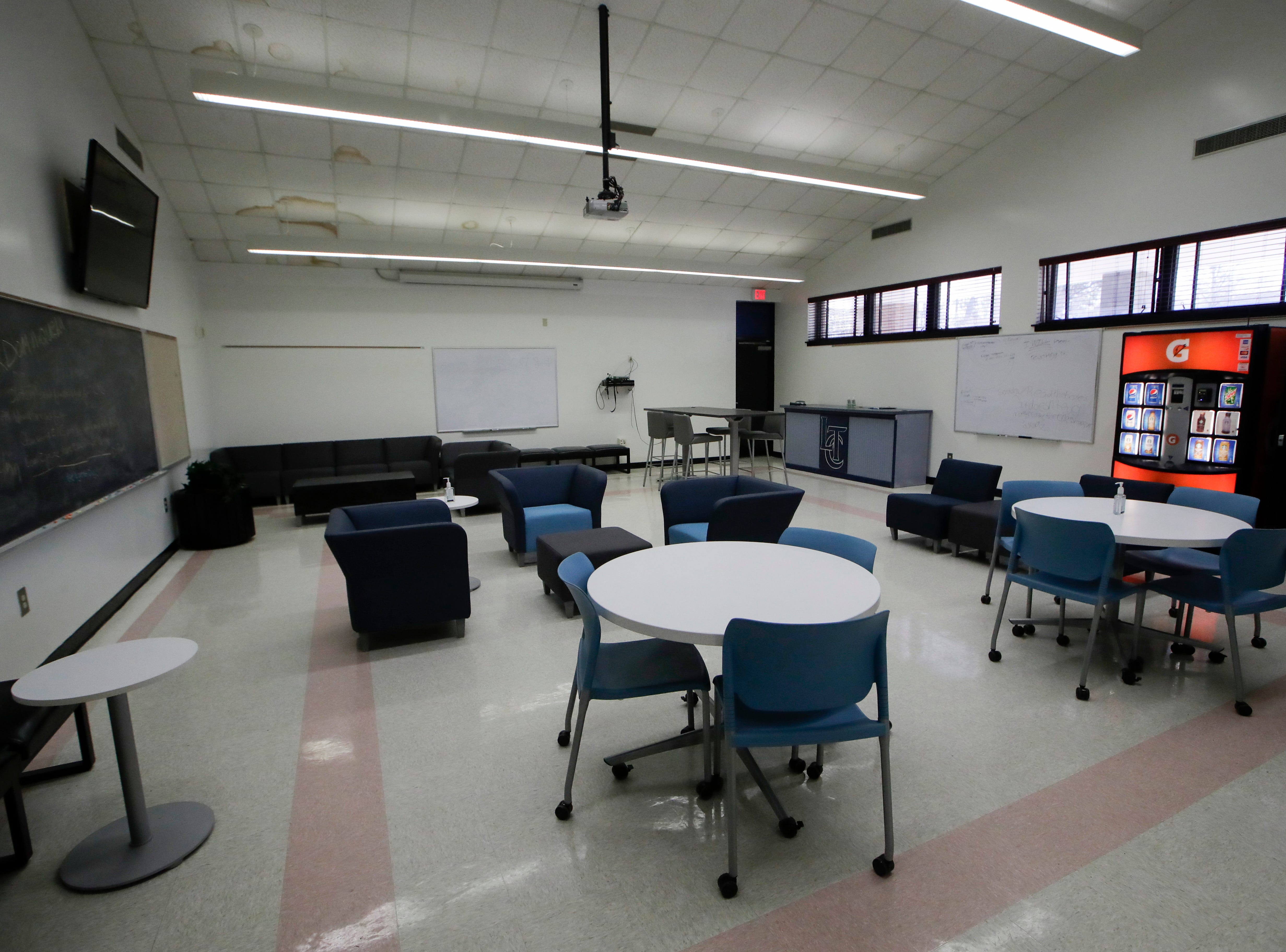 Some rooms have been repurposed to act as student lounges at Lively Technical Center which has been approved by the Leon County School Board to change it's name to Lively Technical College.