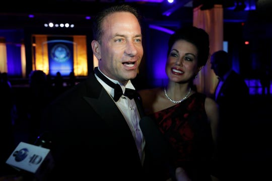 Hundreds of guests from all over Florida attend Florida's 46th Governor's Inaugural Ball at the Tucker Civic Center, Tuesday, Jan. 8, 2019. Mike Watkins answers questions from the media.