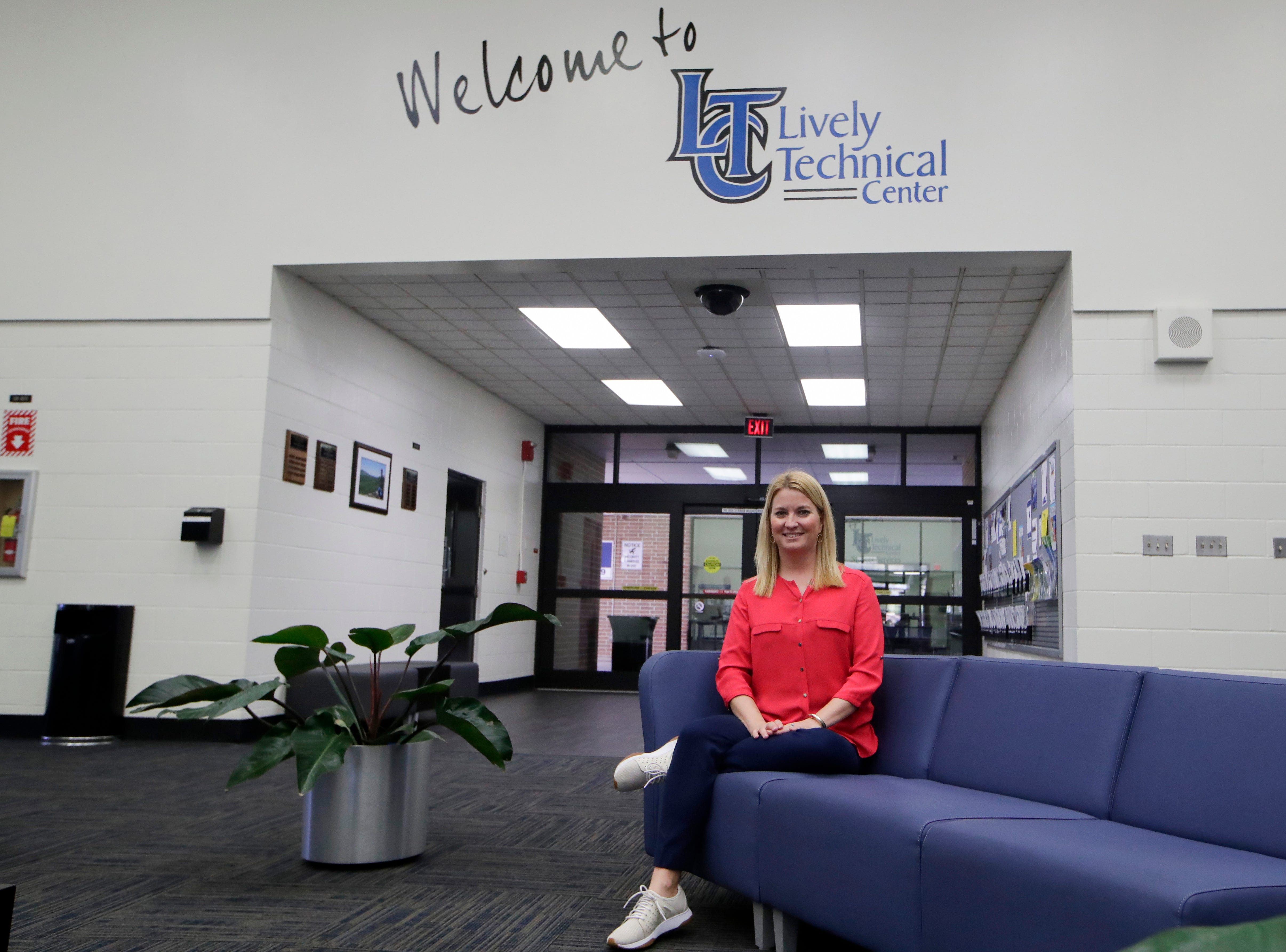 Lively Technical Director of Career, Technical and Adult Education Shelly Bell sits in the lobby of Lively Technical Center which has been approved by the Leon County School Board to change it's name to Lively Technical College.