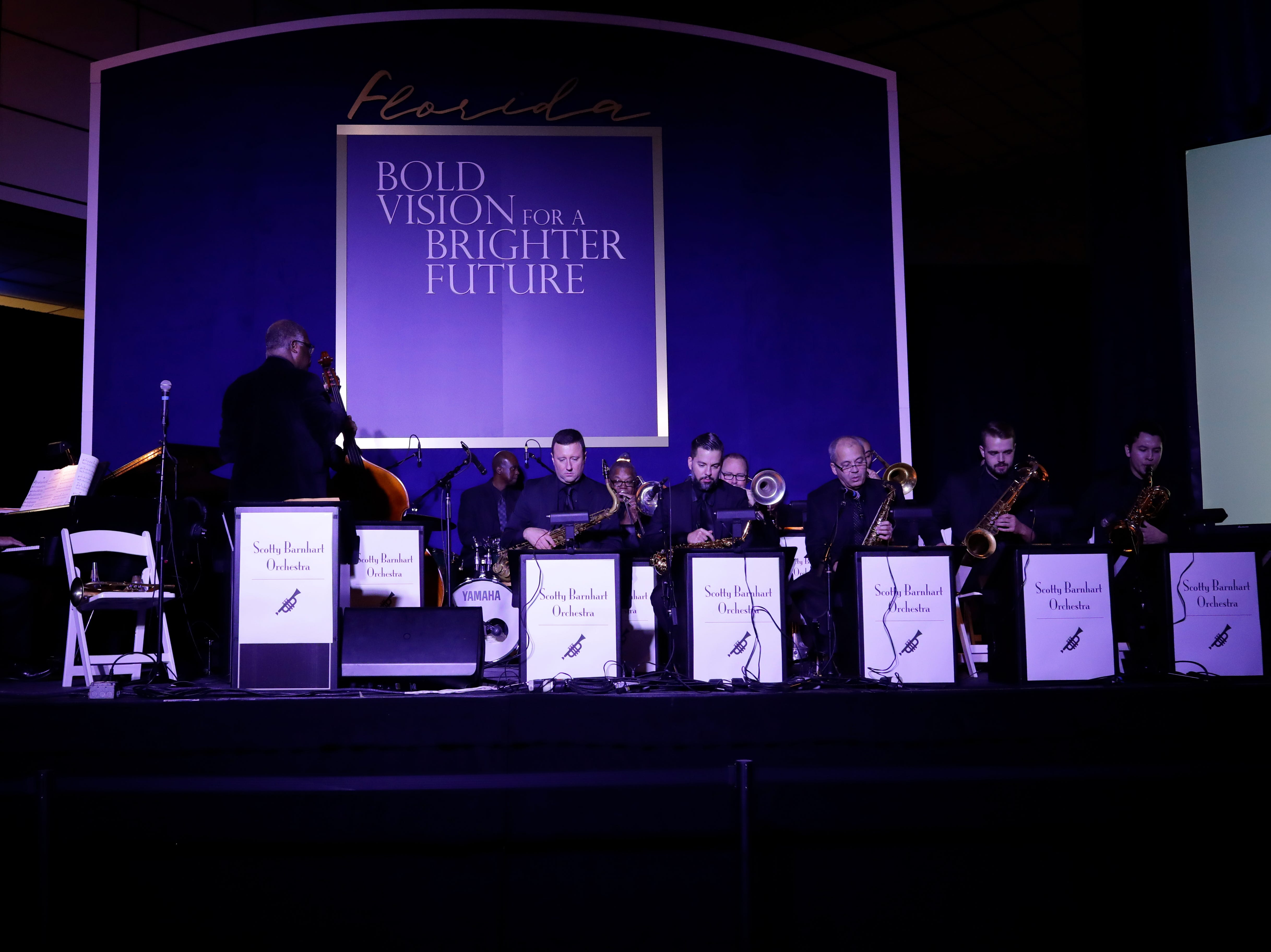 Hundreds of guests from all over Florida attend Florida's 46th Governor's Inaugural Ball at the Tucker Civic Center, Tuesday, Jan. 8, 2019. An orchestra plays as guests mingle.