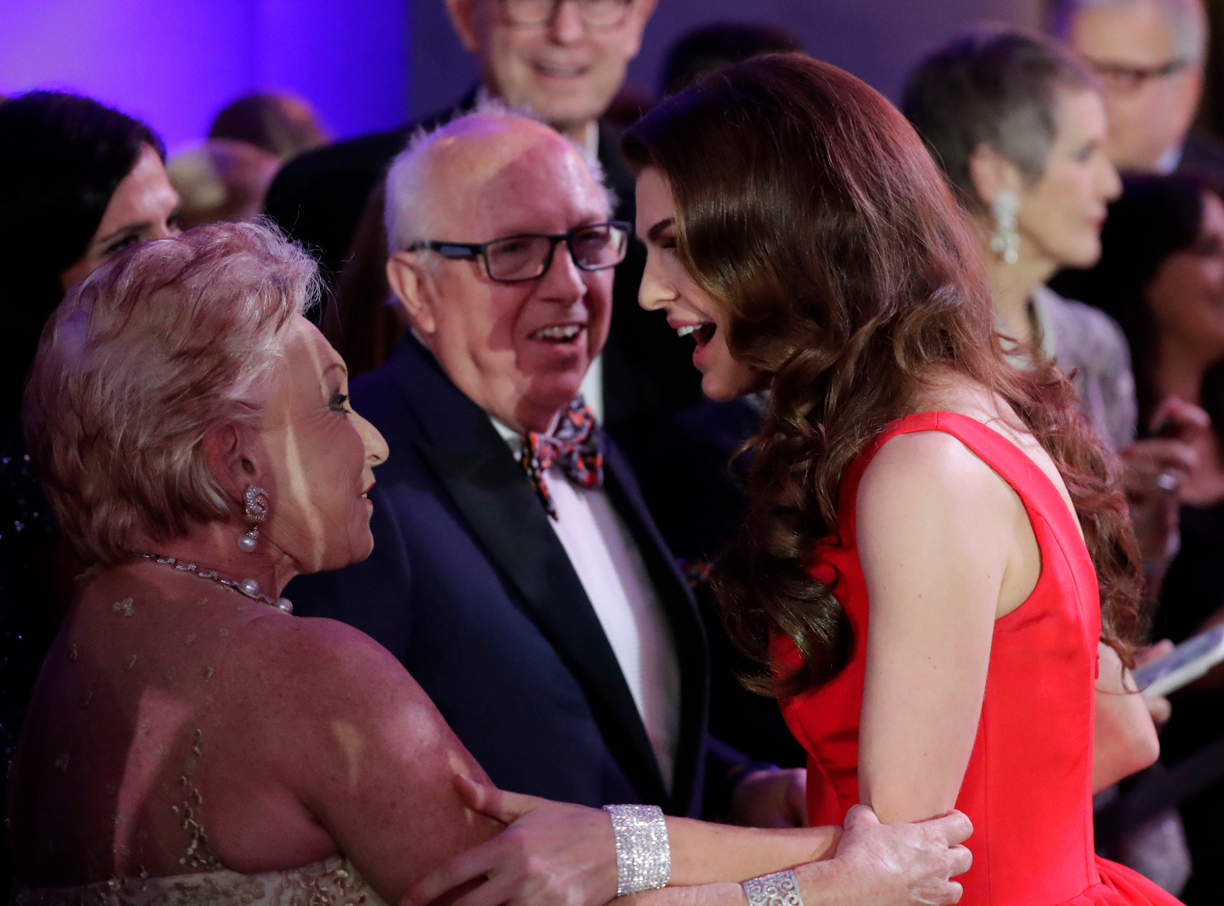 Hundreds of guests from all over Florida attend Florida's 46th Governor's Inaugural Ball at the Tucker Civic Center, Tuesday, Jan. 8, 2019. First lady Casey DeSantis mingles with guests.