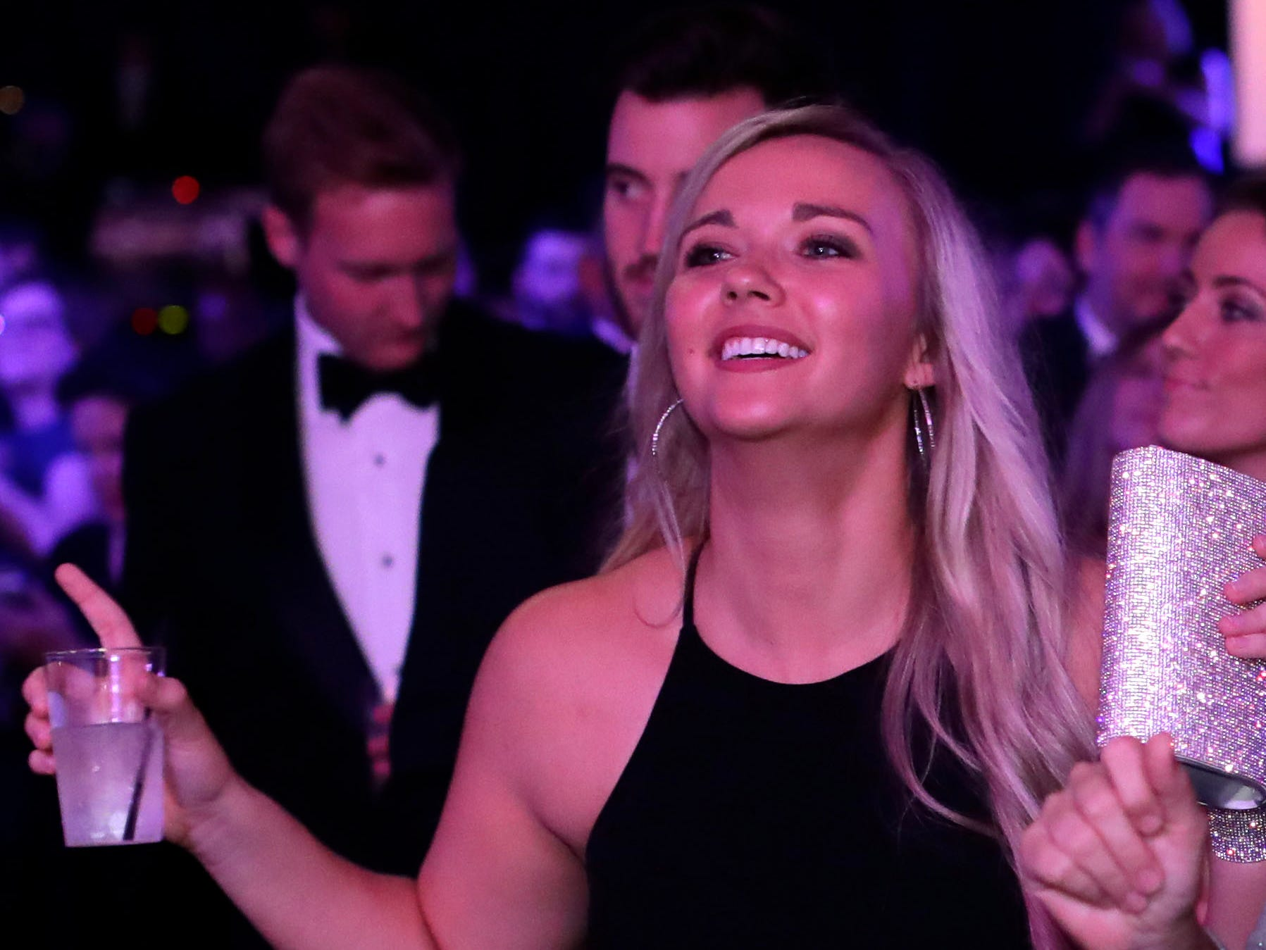 Hundreds of guests from all over Florida attend Florida's 46th Governor's Inaugural Ball at the Tucker Civic Center, Tuesday, Jan. 8, 2019.  A guest dances the night away as live music is performed.