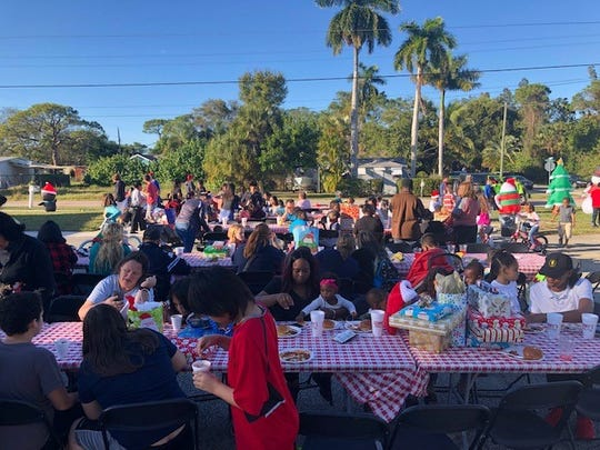 On Dec.22, Elev8Hope's Community Christmas Toy Giveaway project was held atHope Central, its facilityat 3700 S.E. Salerno Road in Stuart.Sonny's BBQ of Stuart spread holiday cheer by feeding over 1,000 people at the event.