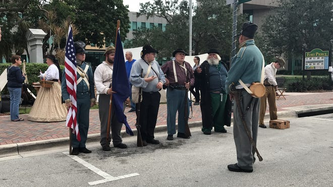 The annual Treasure Coast History Festival in downtown Fort Pierce features historical re-enactors.