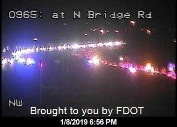 Southbound lanes on I-95 remained closed near County Road 708 in Hobe Sound about 7 p.m. Tuesday, Jan. 8, 2019. A fatal crash started the backup about 4:40 p.m.