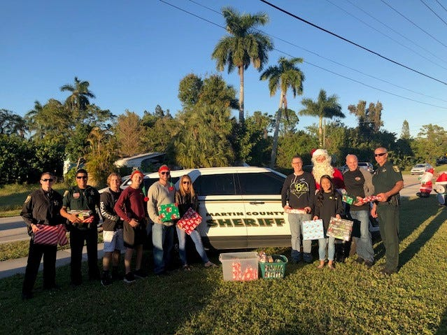 The Martin County Sheriff's Office stepped up as a major supporter of Elev8Hope's Community Christmas Toy Giveaway, collecting and distributing gifts to more than 1,000 children all over the county, in addition to keeping everyone safe at the Dec. 22 event.