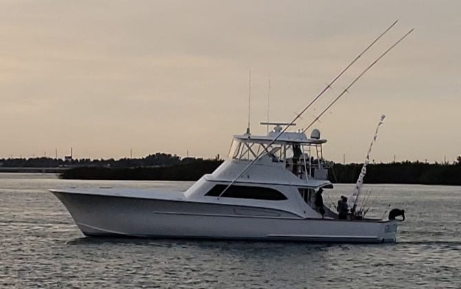 Grand Slam, led by Capt. David Grubbs of New Smyrna Beach, is 11 sailfish release flags short of his total of 38 caught fish Wednesday. Grand Slam set a single day boat record for a Treasure Coast area sailfish tournament.