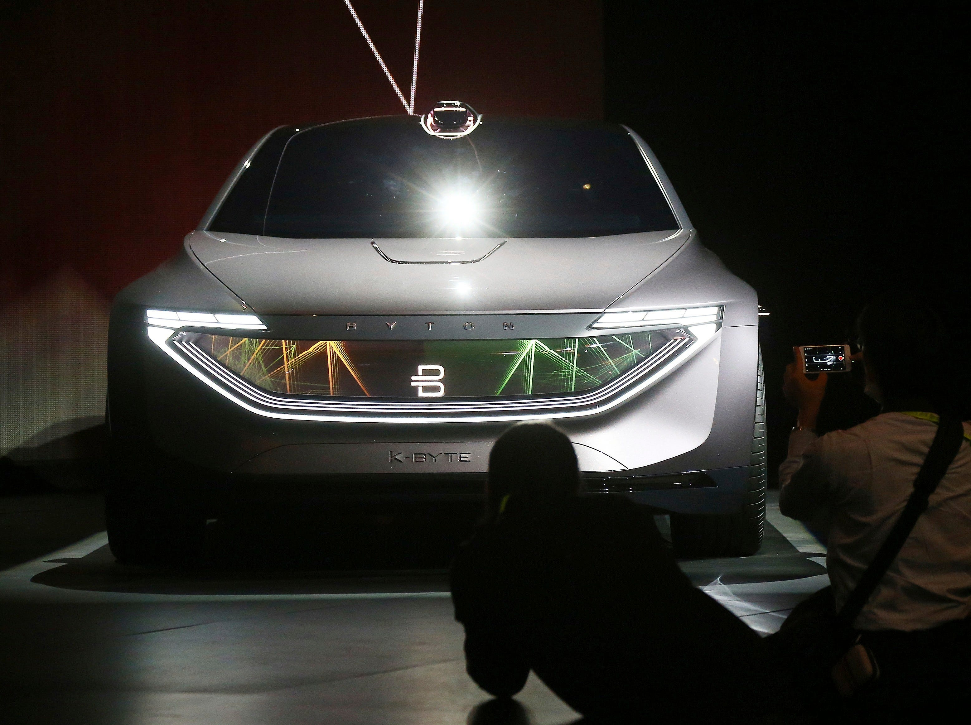 Byton unveils the K-Byte Concept car during a news conference before CES International on Sunday, Jan. 6, 2019, in Las Vegas.