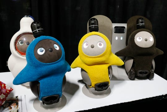 Lovot companion robots are on display at the Groove X booth during CES Unveiled at CES International on Sunday, Jan. 6, 2019, in Las Vegas.