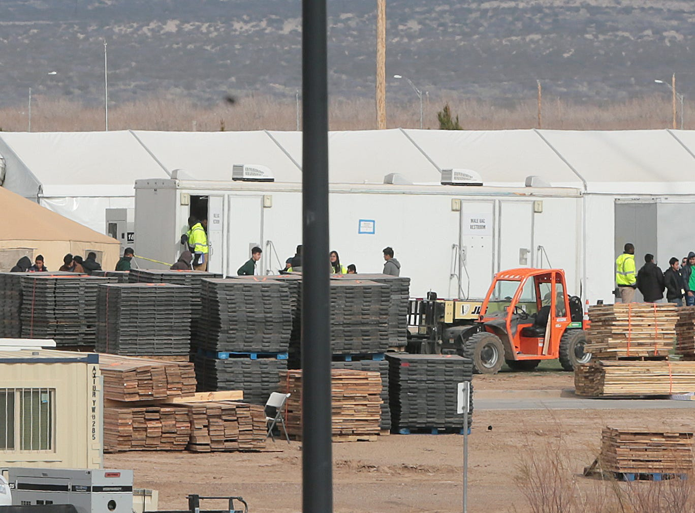 Many of the tents at the Tornillo detention center for migrant teens have been removed as the center prepares to close. It is estimated that less than 500 children remain at the camp.