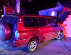 A man was arrested early Wednesday after an alleged DUI crash into a backyard wall in Simi Valley.