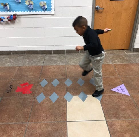 Petway students, staff and administration create a 'hopping hallway'