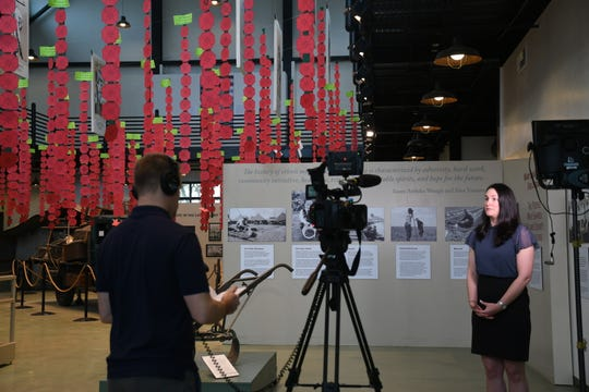 "C-SPAN crews interview Tulare County Museum curator Amy King about the area's rich ag and multicultural histories for its ""City Tours"" series. Visalia will kick off the program's 2019 tour. You can catch it Feb. 2-3 on the C-SPAN 2 and 3 networks."