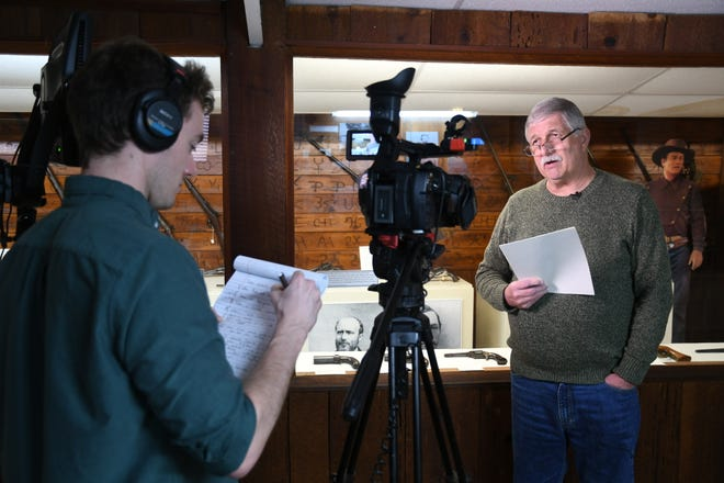 """C-SPAN crews interview local historian Terry Ommen for the network's """"Cities Tours"""" series. Visalia will kick off the program's 2019 tour. You can catch it Feb. 2-3 on the C-SPAN 2 and 3 networks."""