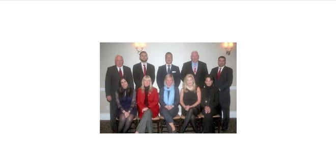 Building Owners and Managers Association of Westchester County's 2019 leaders. Standing, from left, Bill Bassett; Robert McNamara; Michael Borrero; Vinny Finnegan and Scott Tangredi. Seated, from left, Stephanie Manfredi; Geraldine Molloy; Caroline Molloy; Susan Curtis and Joyce Jonap