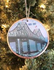 Barbara Beckman's ornament pays tribute to the Tappan Zee Bridge.