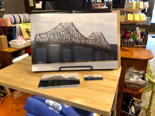 Photographs and postcards of the Tappan Zee Bridge for sale at Bella's Boutique in Tarrytown Jan. 8, 2019.