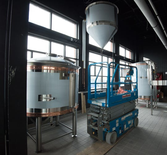 View of the brewery operation area at the new Iron Hill Brewery and Restaurant in Rehoboth that opened at the end of May 2018.