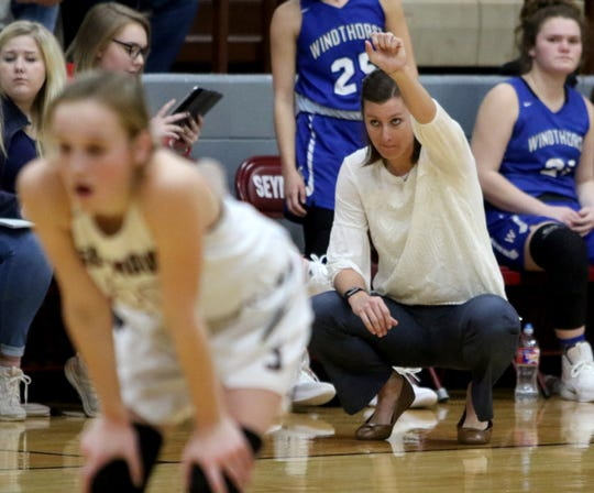 Dylan Stark's wife Heather has been a successful girls basketball coach in her hometown of Windthorst. Now they'll work in the same school district.