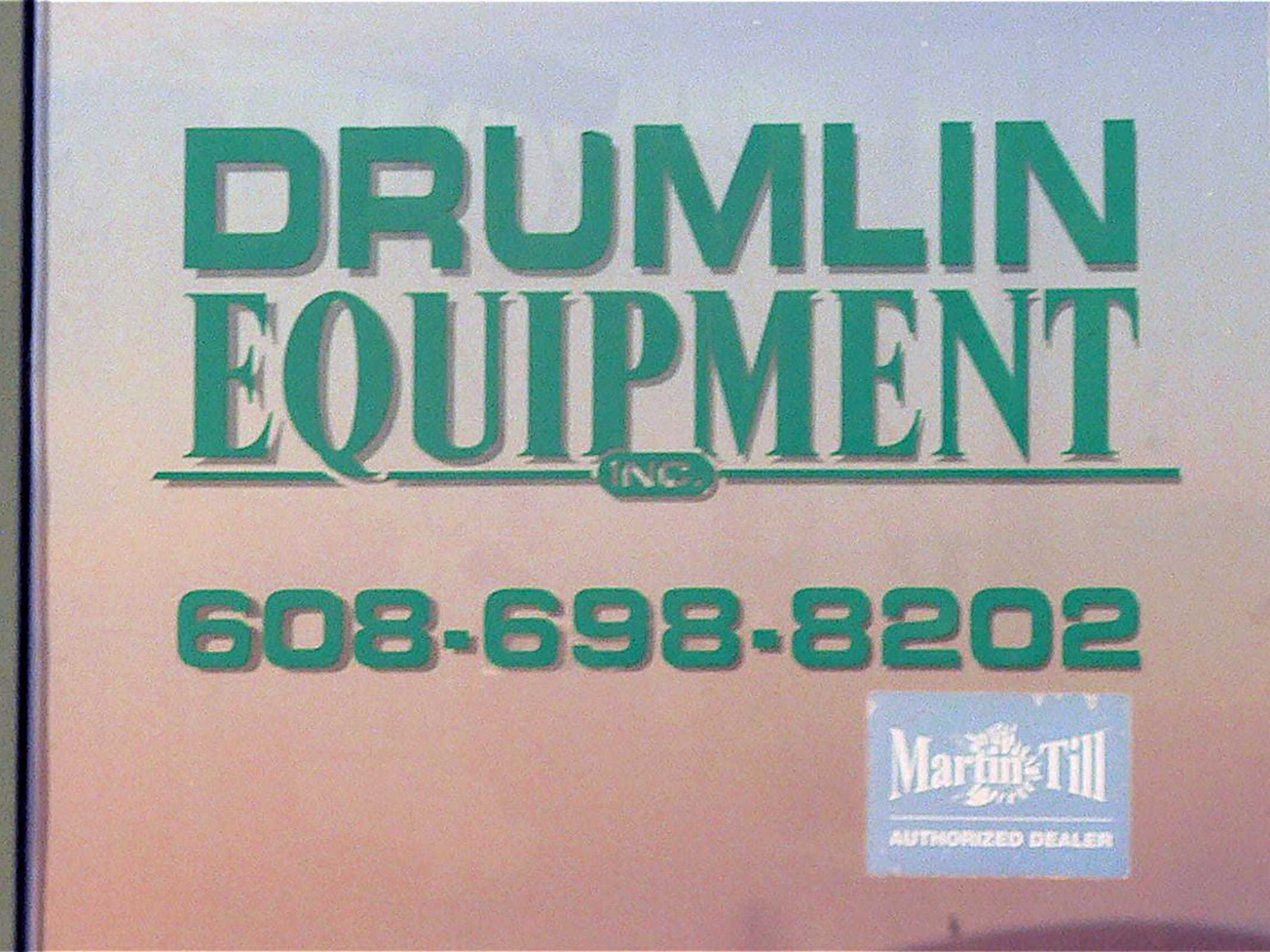 Drumlin Equipment is a niche company.