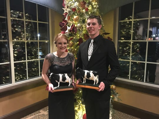 Allie Breunig of Sauk City and Zach Tolzman of Dodgeville have been chosen as the 2019 Outstanding Holstein Girl and Outstanding Holstein Boy honors. The coveted awards were presented during the Wisconsin Junior Holstein Convention in Sheboygan on Jan. 5, 2019.