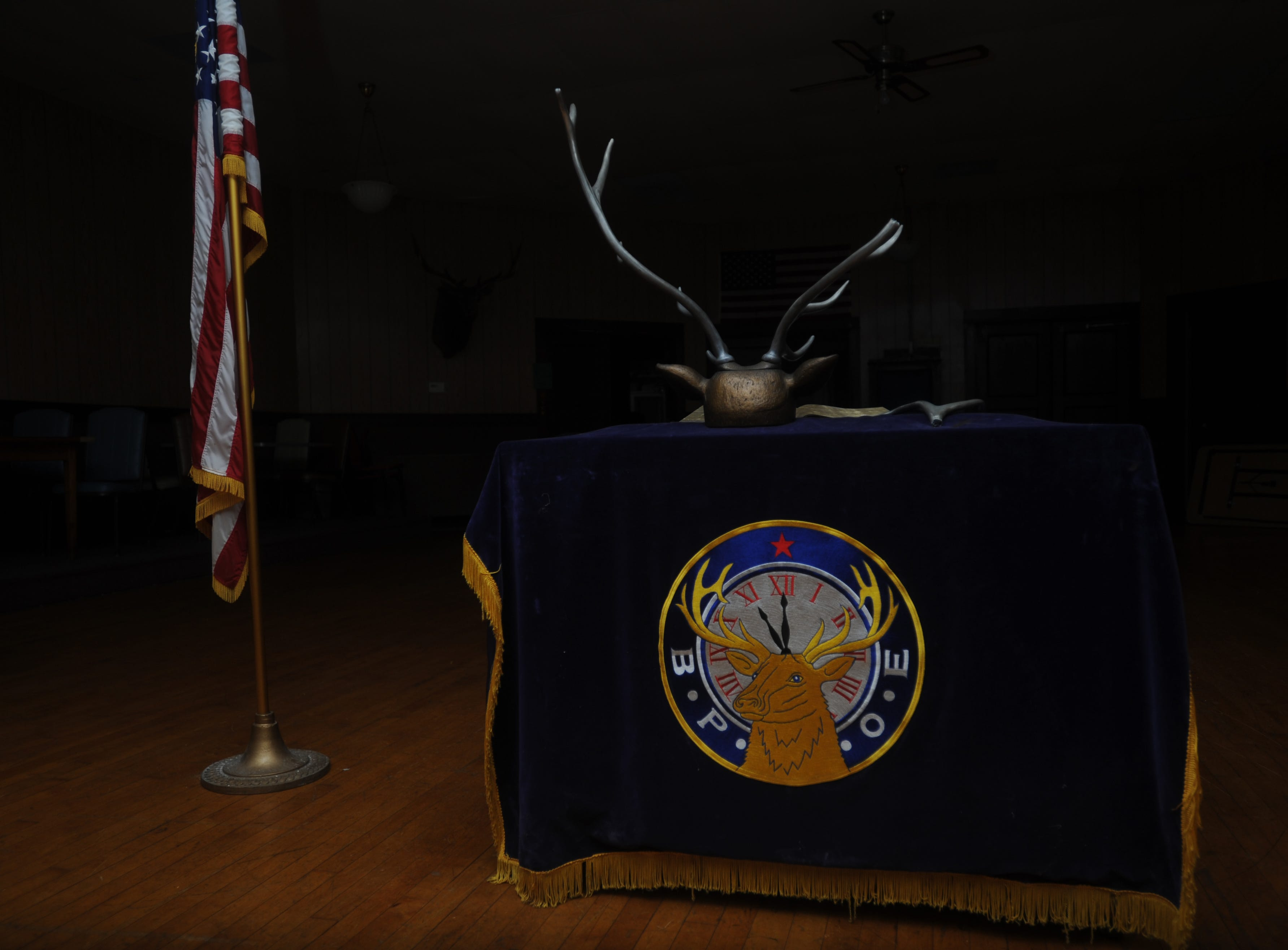 A look at the interior of the Zanesville Elks before the building was auctioned in 2011.
