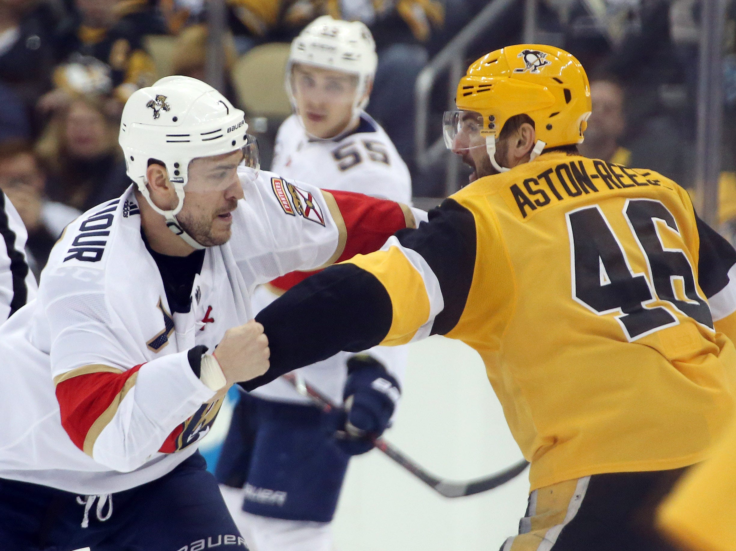 Jan. 8: Florida Panthers' Colton Sceviour vs. Pittsburgh Penguins' Zach Aston-Reese.