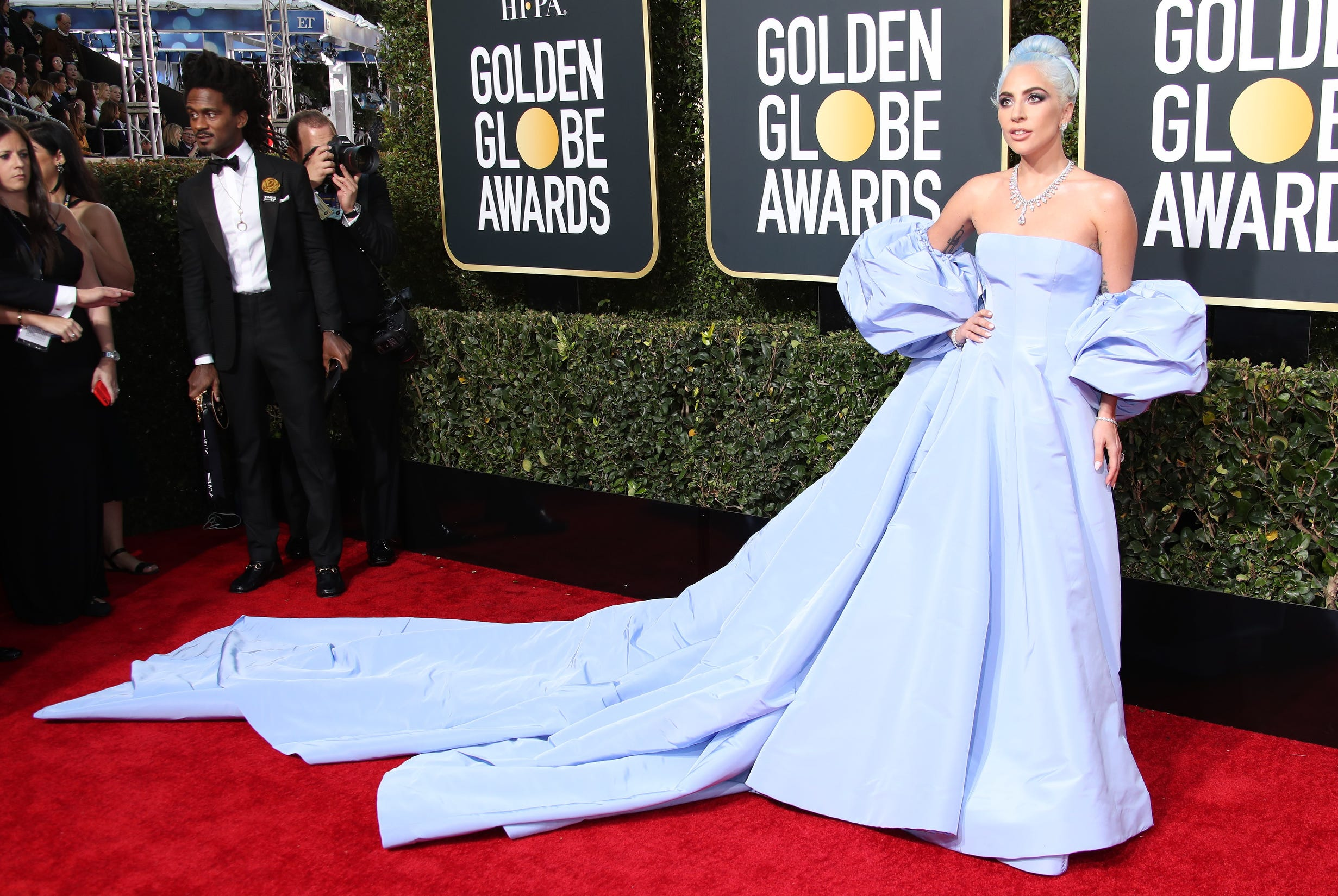 Light the lights! This is it: The 2019 Golden Globes!  Lady Gaga arrives on the 76th Annual Golden Globe Awards red carpet,  Jan. 6, 2019, at The Beverly Hilton Hotel.