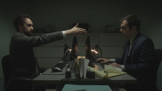 Matt (Matt Ingebretson), left, and Jake (Jake Weisman) are back in their dimly lit office - you didn't expect to see them in the C-Suite, did you? - for Season 2 of Comedy Central's 'Corporate.'