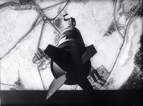 """King"" Kong (Slim Pickens) rides a nuke to oblivion in an iconic moment from ""Dr. Strangelove."""