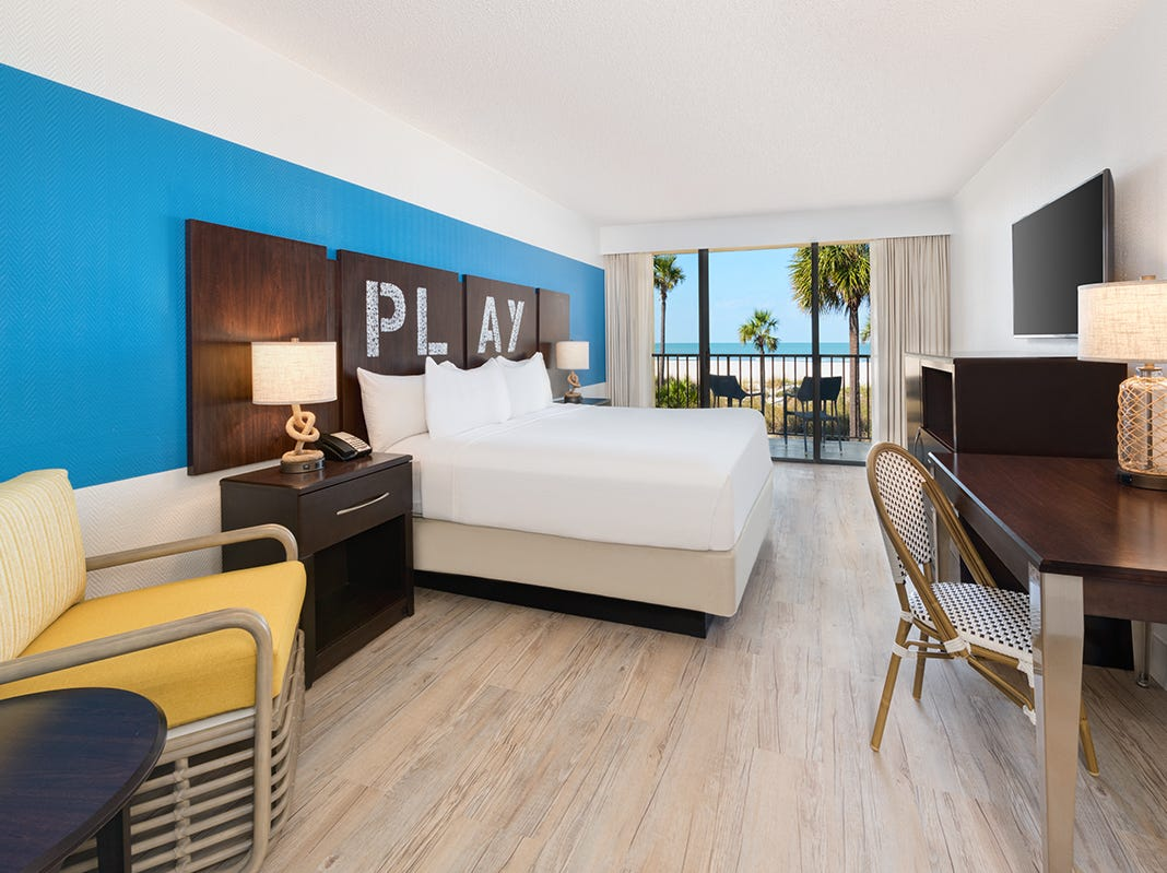 All 382 guestrooms and suites at Sirata Beach Resort in St. Pete Beach, Florida, have been redesigned.